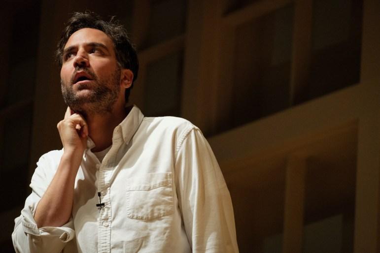 Actor Josh Randor speaks at a Cornell Hillel event at Statler Auditorium on September 6th, 2017. (Michael Suguitan / Sun Staff Photographer).