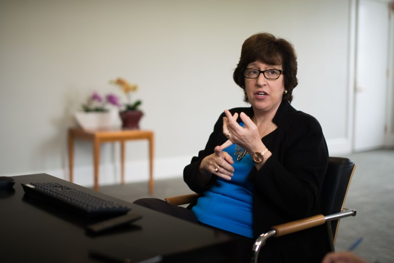 President Martha Pollack, pictured here in May, issued a series of initiatives on Sunday, two days after a black Cornell student said he was called the N-word and punched by a group of white students.