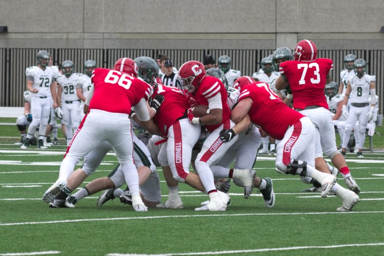 Cornell led for the most of the game against Dartmouth, but could not close it out in the fourth quarter.