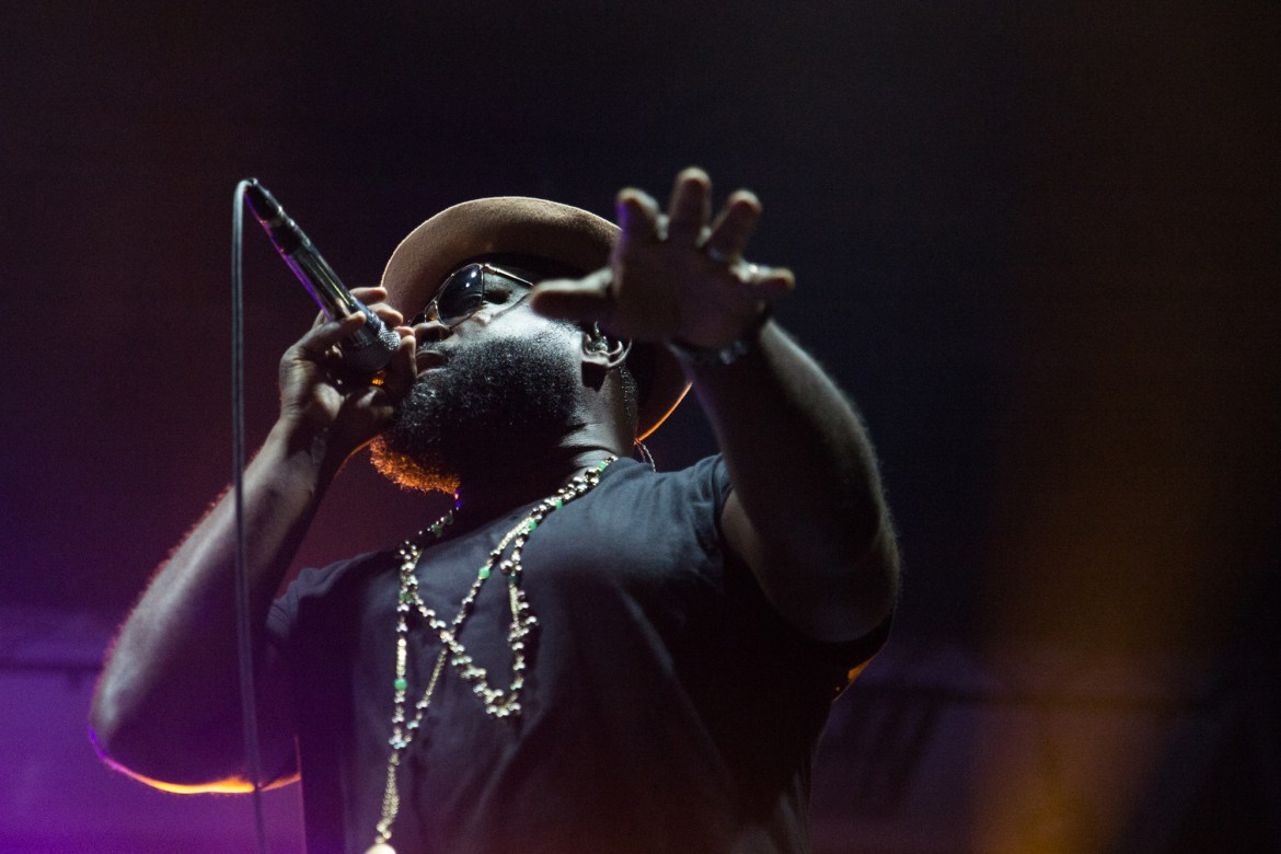 Black Thought onstage as The Roots close out the first Cayuga Sound Festival.