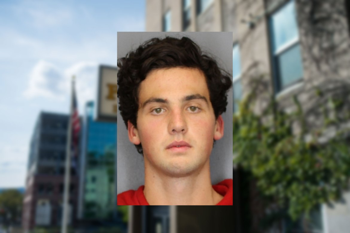 John Greenwood '20, the 19-year-old Cornell student arrested accused of punching a black Cornell junior in the face in September.