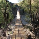 The bridge in Calcha, Bolivia that was built with the help of Cornell Engineers Without Borders.