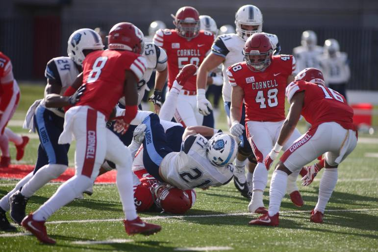 Cornell was unable to contain Chris Schroer, who scorched the Red defense for 183 yards on the ground.