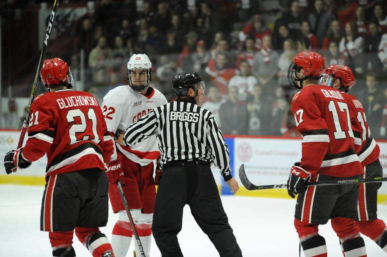 Playing against a depleted St. Lawrence team Friday night, Cornell dominated.