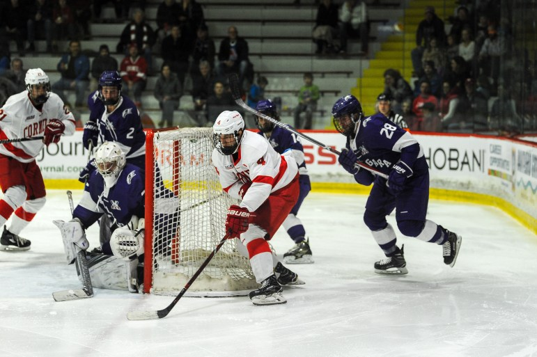 Despite getting outshot 16-8 in the second period, Cornell fought back to outshoot Niagara 12-4 for a four-goal third period.