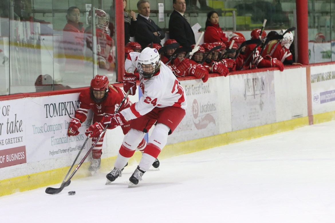 Cornell was unable to get it done against the nation's No. 1 team in Wisconsin this weekend.