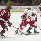 Cornell defeated Harvard, 3-2, at Lynah Rink last Saturday.