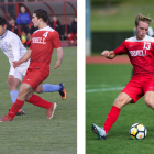 Left: Freshman defender Richie Hrncir   Right: Freshman midfielder Tommy Hansan