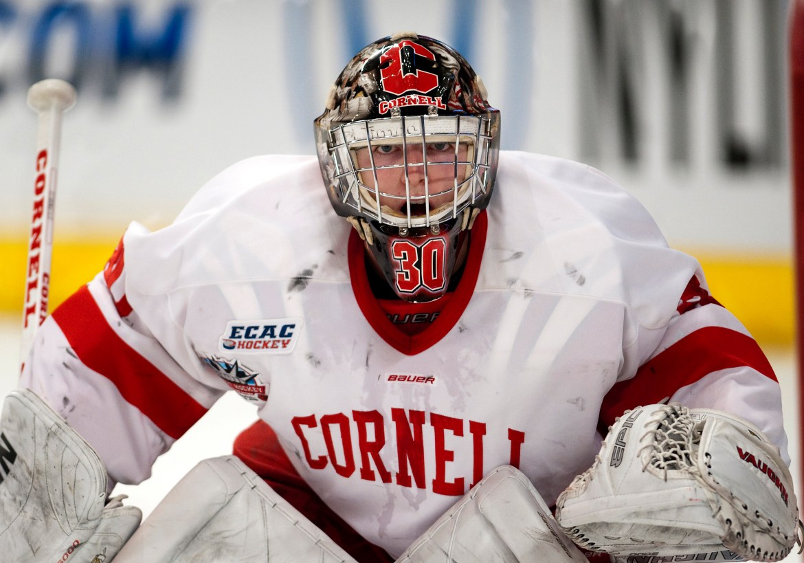 Scrivens '10 is the ninth Cornell men's hockey player to play on an Olympic team, and the sixth for Canada.