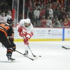 vs Princeton University #18: Jared Fiegl (junior)                      Photo By: Karly Krasnow (sun staff photographer)