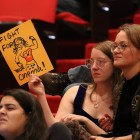 President Martha Pollack declined to intervene in an S.A. vote on Nov. 30, 2017, in Uris Hall, above, to eliminate student funding of Cornell Cinema.