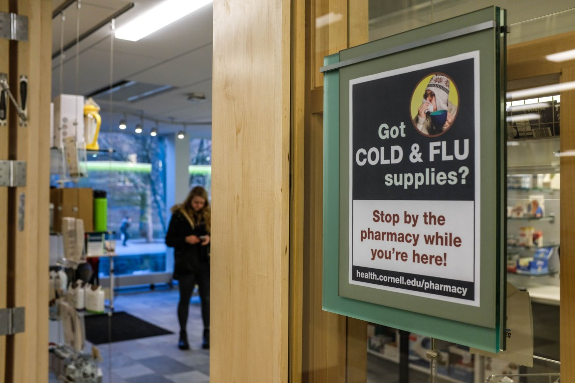 Cornell Health Pharmacy on Jan 25, 2018.