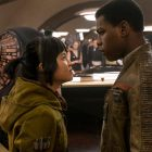 Rose (Kelly Marie Tran) and Finn (John Boyega) in Star Wars: The Last Jedi