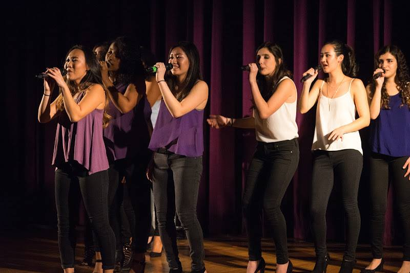 Hearsay a cappella group, pictured, and all other campus a cappella groups will perform together to raise funds for employees.
