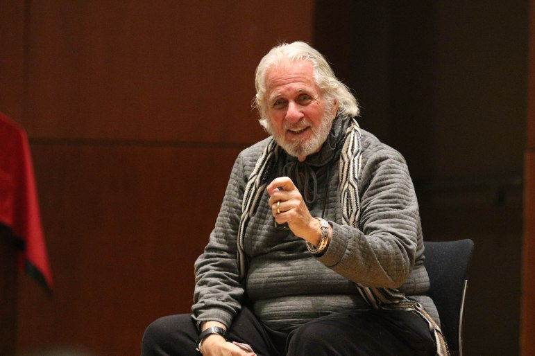 Richard Saul Wurman, the founder of TED Talks, pushed for students to rethink the definition of innovation at a talk on Tuesday. (Michael Wenye Li/Sun Assistant Photography Editor)
