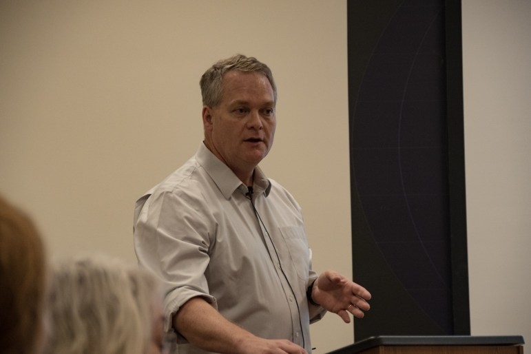 """Christopher B. Barrett speaks at """"The Uneven Transformation of Rural Africa Myths, Facts and Pressing Needs"""" as part of the Institute for African Development Special Topic Seminar Series."""