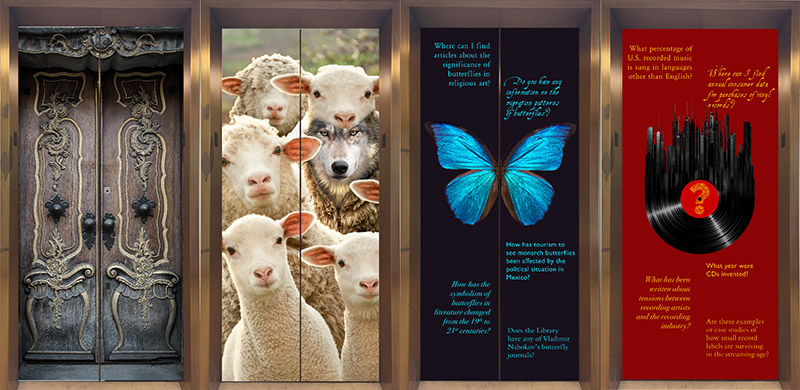 Examples of previous elevator artwork.
