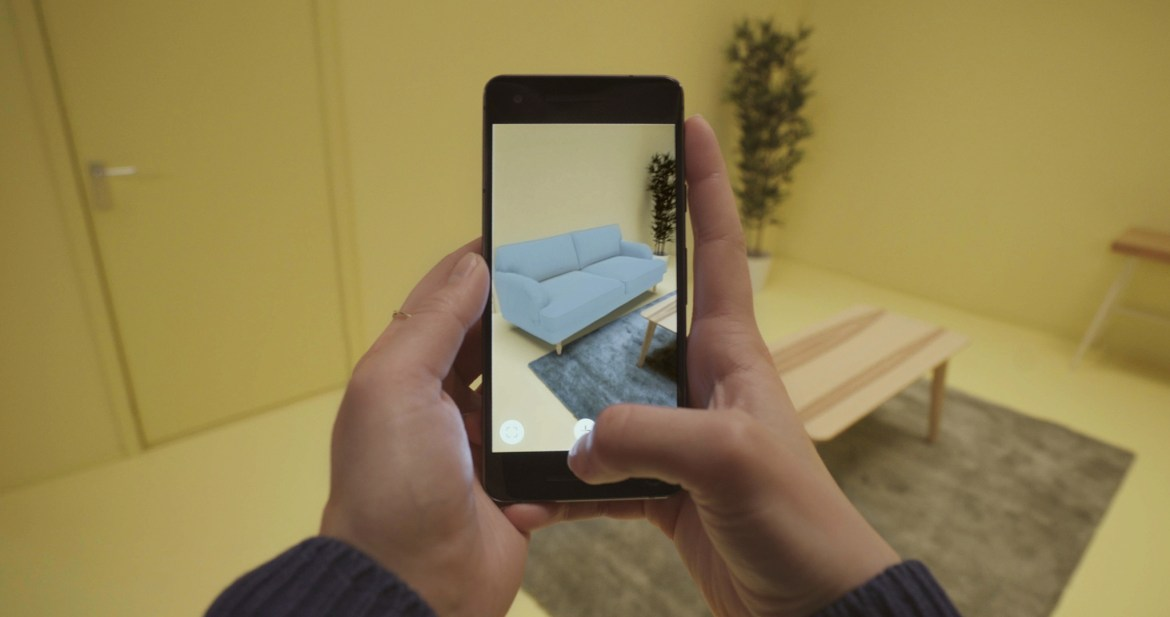 The IKEA Place app, which uses GrokStyle technology developed by a Cornell professor and alumnus, allows customers to search for products like furniture by snapping a photo of the type of item they want.