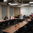 The Ithaca Common Council, pictured at a September 13th meeting, met on Wednesday, where they listened to a presentation by the Southern Tier AIDS program and addressed a recent removal of television channels.