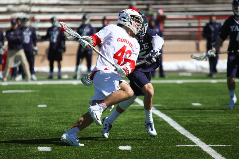 The men's lacrosse team put up a good fight against the defending Ivy League champions but ultimately fell 13-11 against Yale on Saturday.
