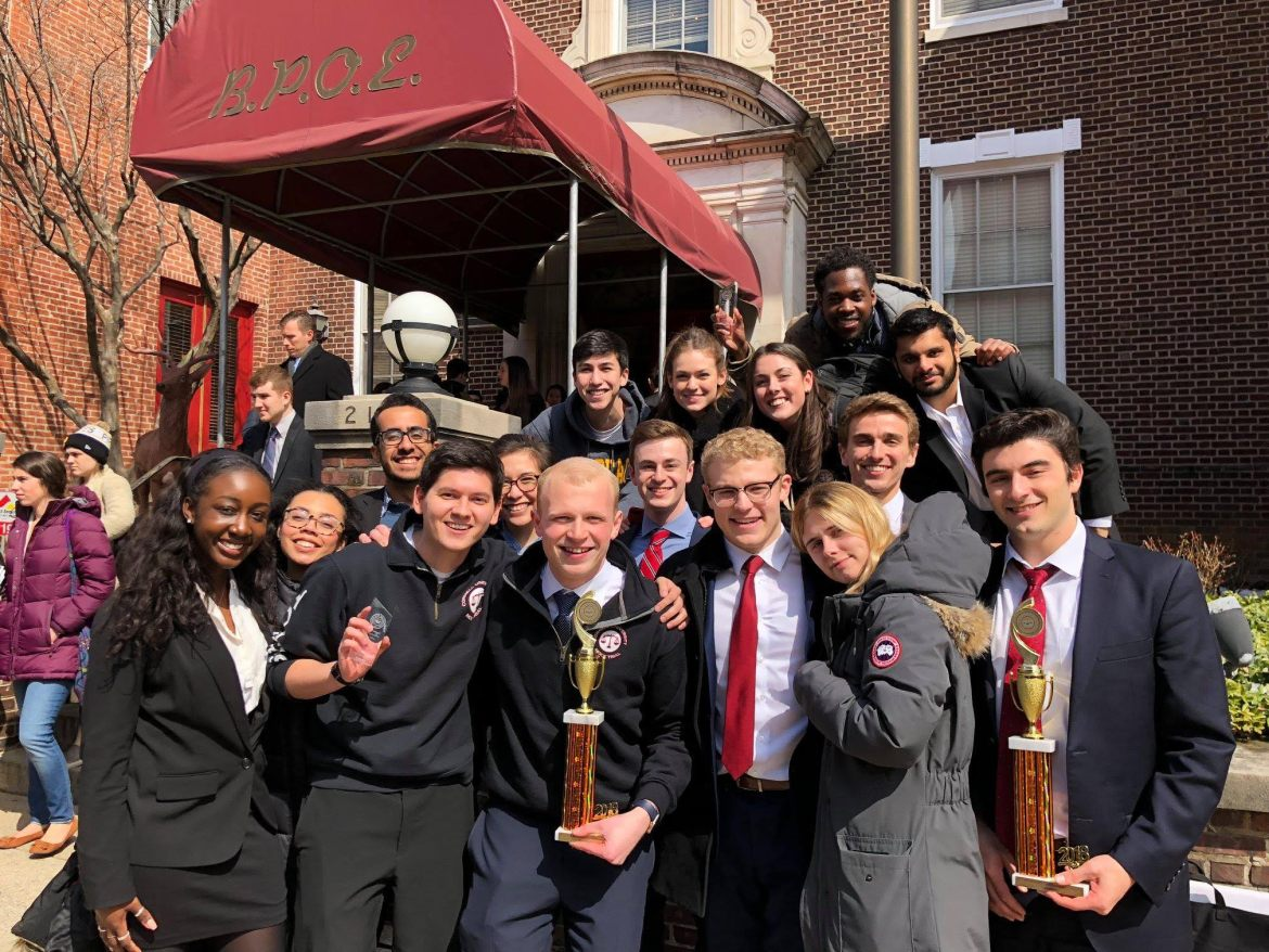 The Cornell Mock Trial team smiles after two of its teams qualified for nationals and ranked among the top six teams at the qualifying tournament last weekend.