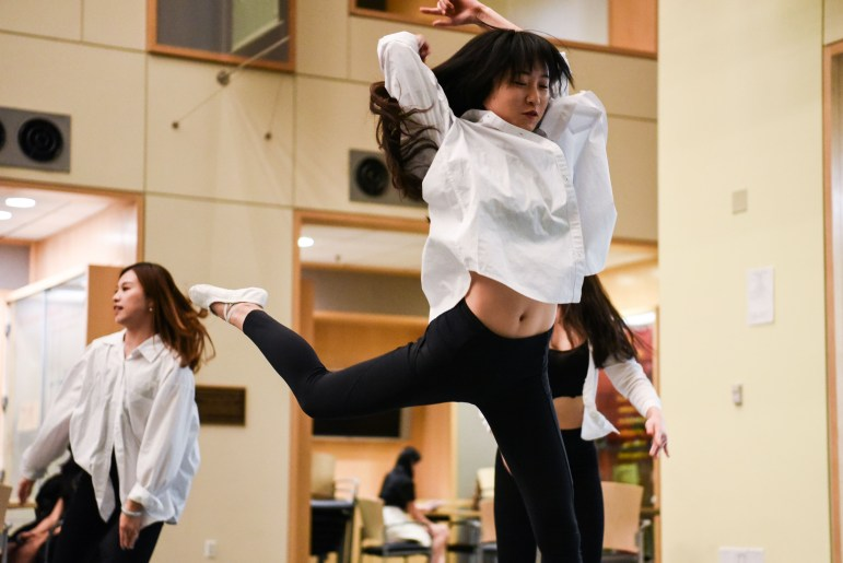 The Amber Dance Troupe performs at the Cornell Mainland China Student Association's Taste of Modern China event on Saturday.