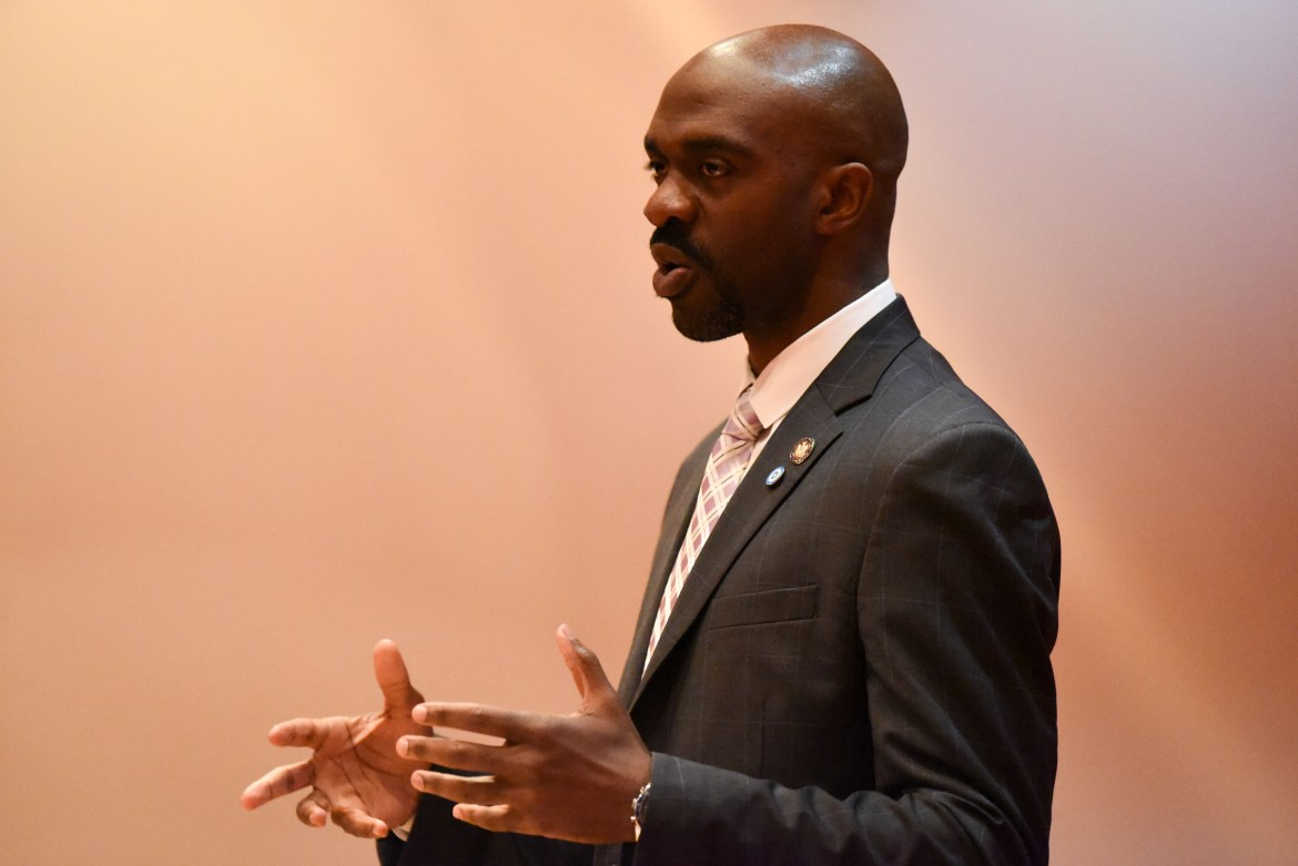 Michael Blake, vice chair of the Democratic National Committee, spoke on the necessity of more youth activism in politics and addressed issues from the 2016 presidential election at a speech on Thursday.
