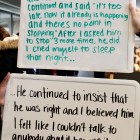 Sexual assault survivors submitted confessions about their experience and trauma.