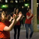 Cornell University's Deaf Awareness Project performed three songs in ASL at Balch Arch to raise awareness for their cause.