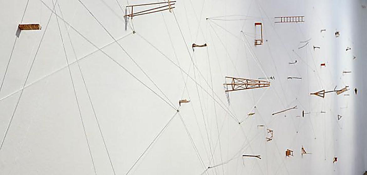 Artwork from the Estudios de Tension exhibit in the John Hartell Gallery.