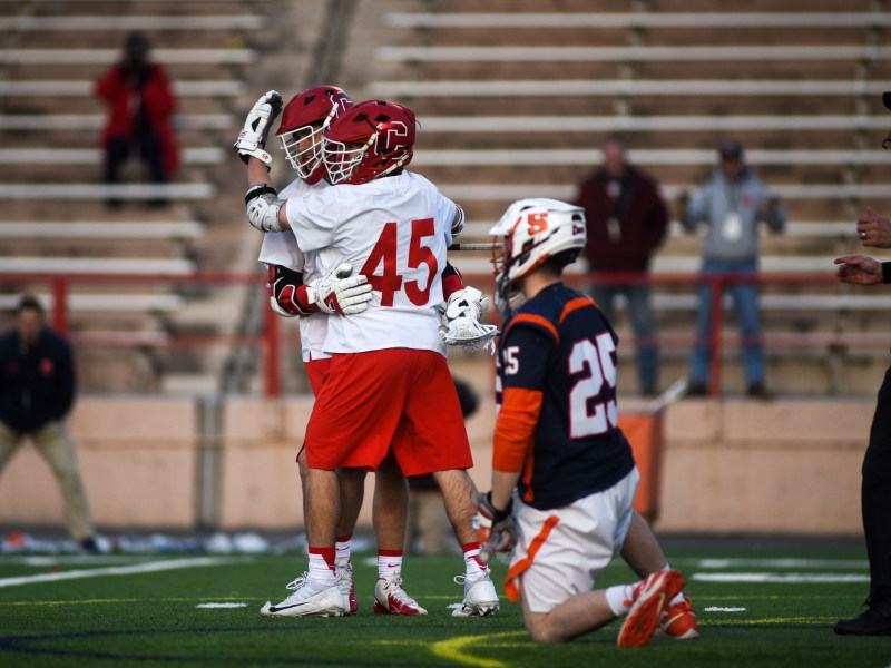 The Red defeated the Orange on April 10 at Schoellkopf Field.