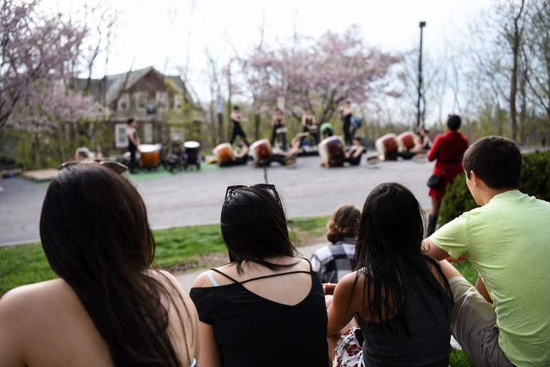 Yamatai performs at Project Eddy Gate in Collegetown on Friday afternoon.