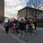 UPR students raised concerns about a federal oversight board and new austerity measures at a protest on Tuesday, where they marched across the Arts Quad and Ho Plaza.