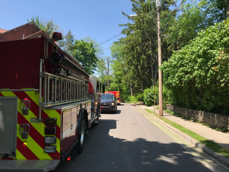 The Ithaca Fire Department joined a search of the Fall Creek gorge following a report of a body in the water on Friday, May 25, 2018.