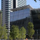Located at Cornell Tech on Roosevelt Island, the Bridge building sits in front of The House.