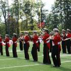 The Big Red Marching Band at one of its performances in 2017.