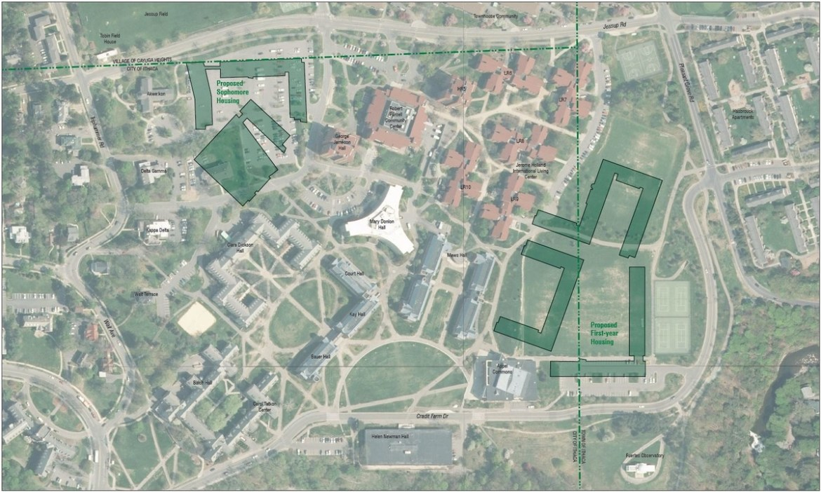 The construction will add 1,200 freshmen beds and 800 sophomore beds to the existing residential facilities on North Campus.
