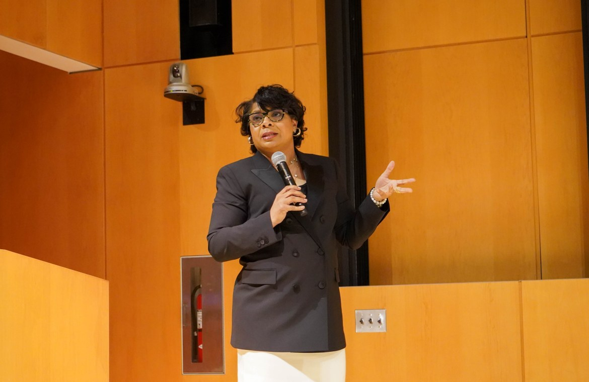 White House reporter April Ryan spoke to a large audience on Thursday, detailing her experiences as a journalist covering President Donald J. Trump's administration.