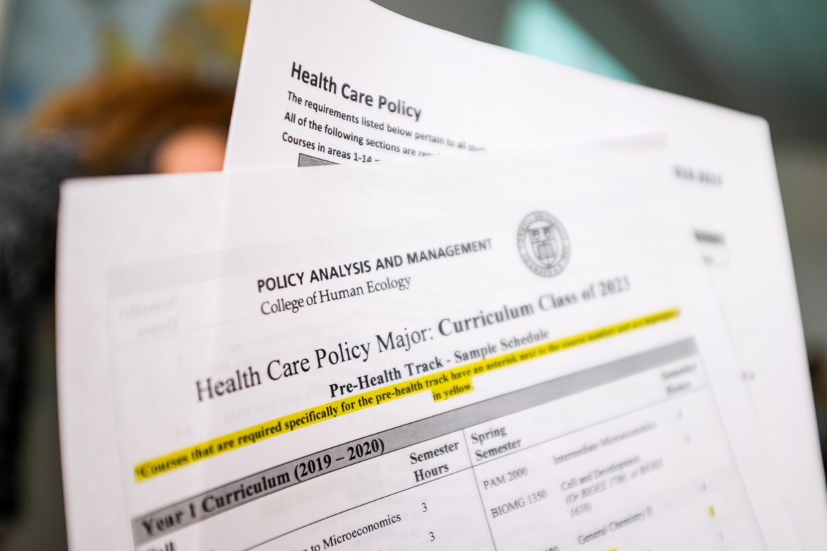 "The new Health Care Policy major is a ""nice marriage of financial security and idealism,"" according to Prof. Sean Nicholson, policy analysis and management."