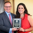 Christa Glazier '01 became the second recipient of the Cornell New York State Hometown Alumni Award on Aug. 28.
