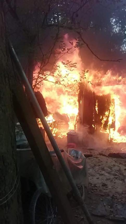 """Ithaca firefighters struggled to access a fire at """"The Jungle"""" on Monday afternoon."""
