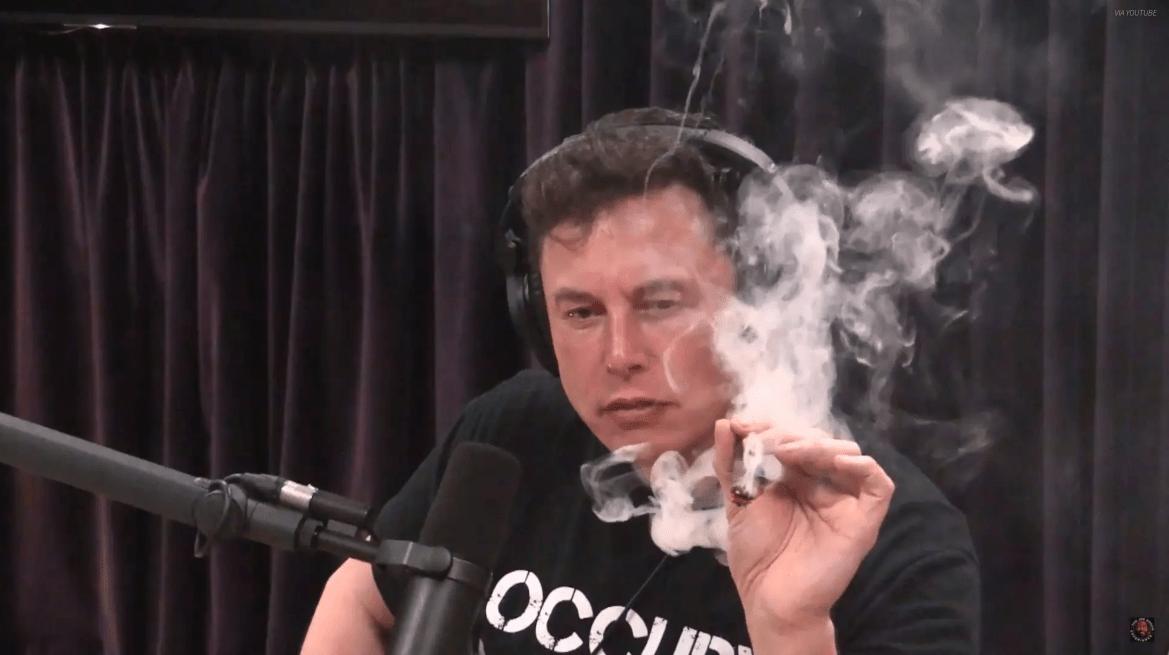 Elon Musk Smokes Weed on the Joe Rogan Experience.