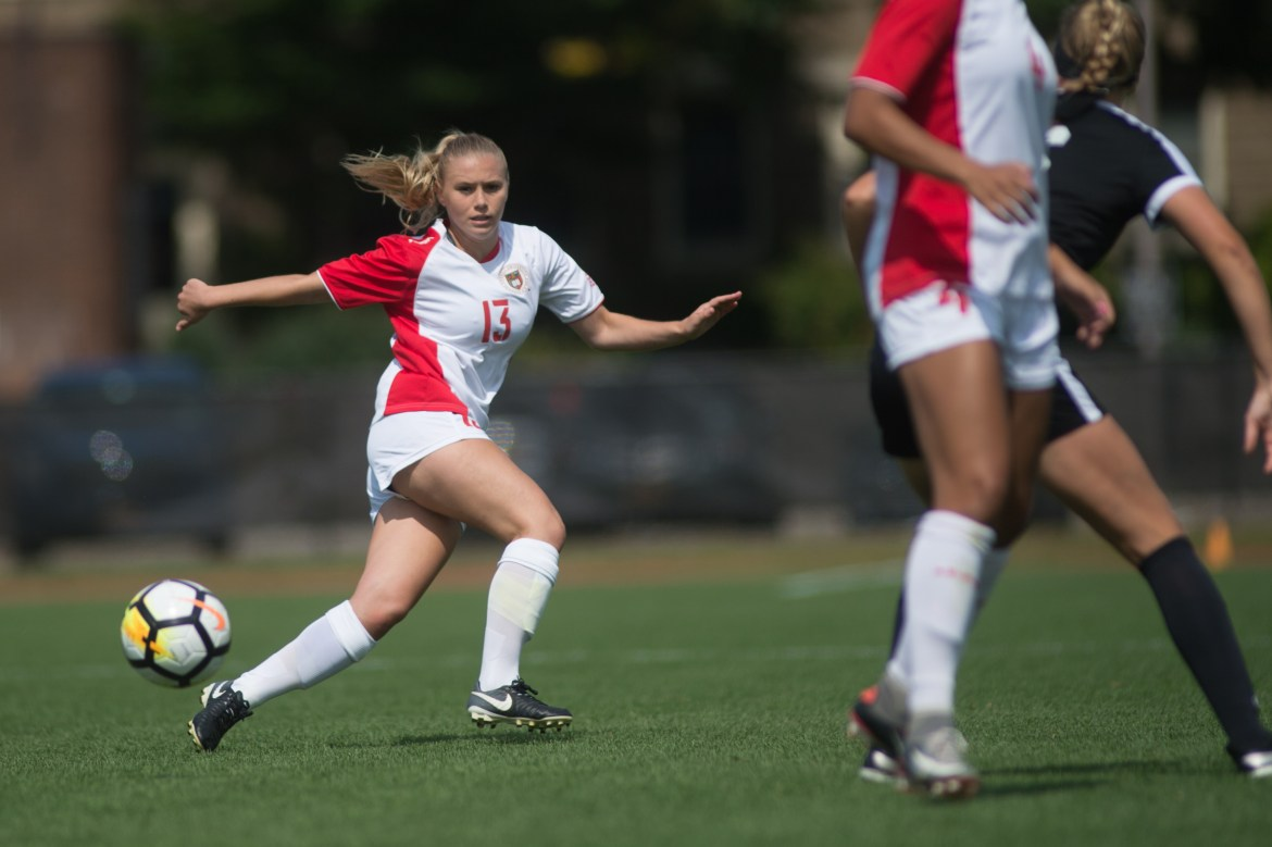 Junior midfielder Juliana Comer, above, said her team played well defensively in a 1-0 loss.