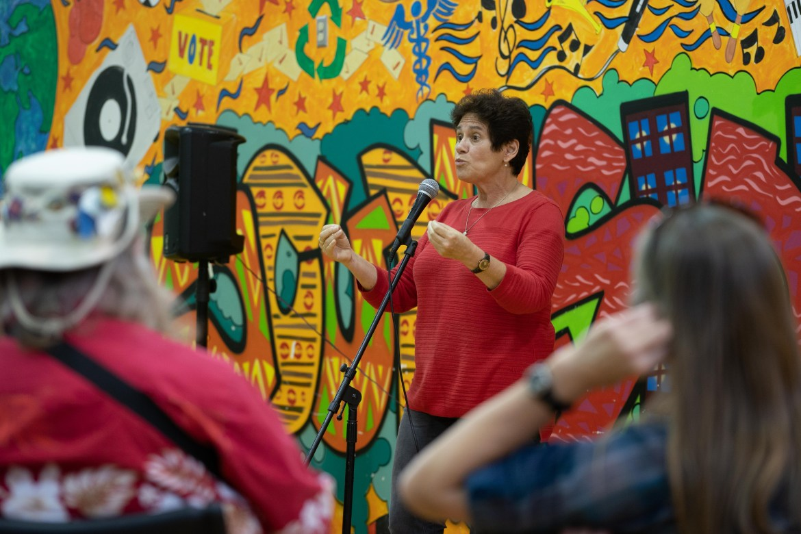 Tracy Mitrano, Democratic candidate for the 23rd Congressional District of New York, hosted an open forum at the Southside Community Center in downtown Ithaca on Friday.