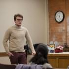 Matt Jirsa '19 speaks at an info session on a Mental Health Task Force in Rockefeller Hall, Feb. 6, 2018.