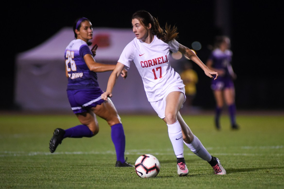 The women's soccer team fell to Penn despite a strong effort on defense in the first half.