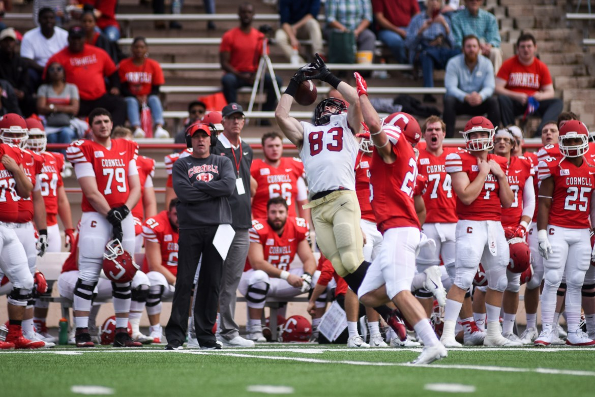 Cornell improved its standing in the Ivy League with a comeback win over Harvard on Saturday.