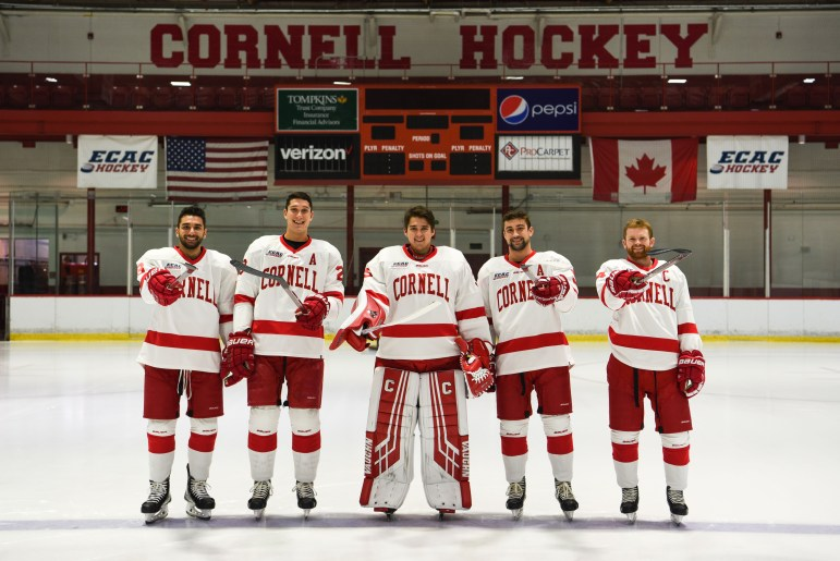 The leaders of the men's hockey team are ready to set a winning tone at the top.