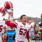 Then-sophomore kicker Zach Mays celebrates Cornell's shocking, come-from-behind win over Colgate two years ago. On Saturday, the Red returns to Hamilton for the first time since 'The Comeback.'