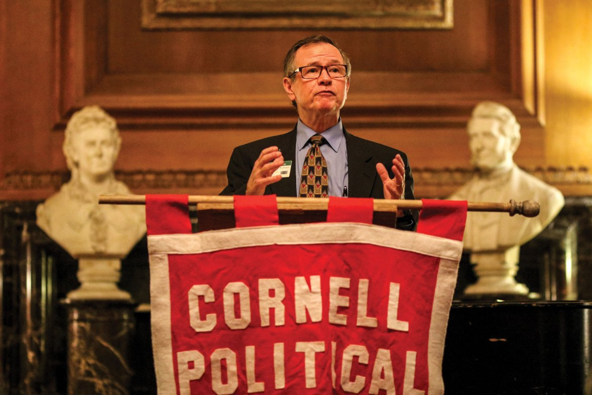 The Cornell Political Union brought Mark Webster, CEO of Cortland Regional Medical Center, as the guest speaker for a healthcare debate.